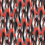 Polígono escuros em um fundo vermelho Fotografia de Stock