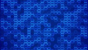 Polígono moventes abstratos na obscuridade - azul ilustração do vetor