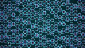 Polígono moventes abstratos no azul ilustração royalty free