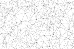 Polígono preto e branco do fundo. Fotografia de Stock