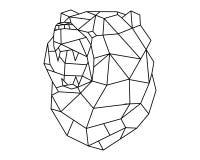 Polígono principal do urso Imagem de Stock