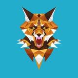Polígono principal geométrico, ilustração do lobo do vetor Fotos de Stock Royalty Free