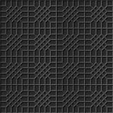 Polígono transversal da verificação de papel escura elegante sem emenda do teste padrão 316 da arte 3D Imagens de Stock Royalty Free