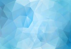 Polígonos abstractos del azul del fondo Fotos de archivo