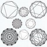 Polígonos de Dodecahedron Foto de archivo libre de regalías