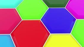 Polígonos en diversos colores almacen de video