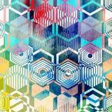 Polígonos geométricos del ornamento Imágenes de archivo libres de regalías