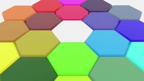 Polígonos móviles en diversos colores almacen de video