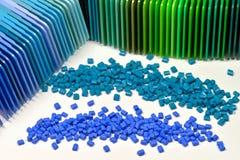 Polímero con las muestras Imagen de archivo libre de regalías