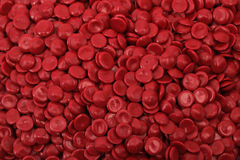 Polímero vermelho fotografia de stock