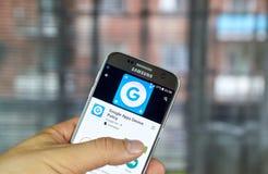 Política App del dispositivo de Google Foto de archivo