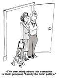 Política de família da empresa Fotografia de Stock Royalty Free