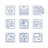 Política de la atención sanitaria, documentos médicos, informe de la diagnosis, control encima de la lista, plan del tratamiento, libre illustration