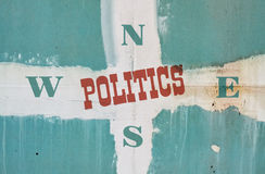 Política de la sola palabra fotos de archivo libres de regalías