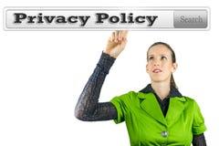 Política de privacidad imagen de archivo libre de regalías