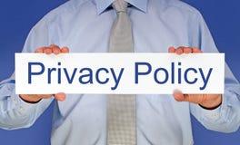 Política de privacidad fotos de archivo libres de regalías