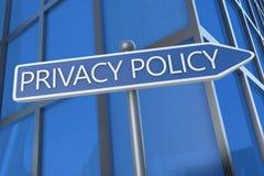 Política de privacidad Foto de archivo