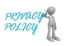 Política de privacidade Imagens de Stock