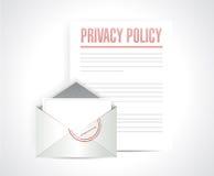 a política de privacidade documenta a ilustração Fotografia de Stock