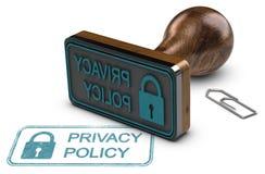 Política de privacidade, proteção de dados do cliente Foto de Stock Royalty Free