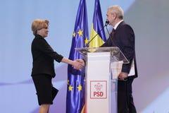 Política de Romênia - congresso de Partido Democratico Social fotografia de stock