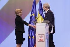 Política de Romênia - congresso de Partido Democratico Social imagens de stock