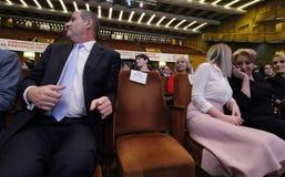 Política de Romênia - congresso de Partido Democratico Social imagem de stock royalty free