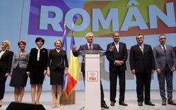 Política de Romênia - congresso de Partido Democratico Social foto de stock
