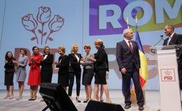 Política de Romênia - congresso de Partido Democratico Social fotos de stock