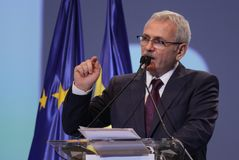 Política de Rumania - congreso de Partido Democrático Social foto de archivo