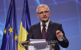 Política de Rumania - congreso de Partido Democrático Social fotografía de archivo