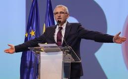 Política de Rumania - congreso de Partido Democrático Social imagenes de archivo