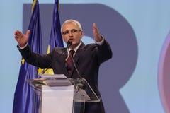 Política de Rumania - congreso de Partido Democrático Social imagen de archivo libre de regalías