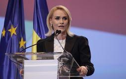 Política de Rumania - congreso de Partido Democrático Social fotos de archivo
