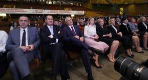 Política de Rumania - congreso de Partido Democrático Social imagen de archivo