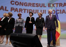Política de Rumania - congreso de Partido Democrático Social foto de archivo libre de regalías