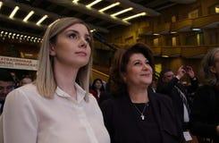 Política de Rumania - congreso de Partido Democrático Social fotos de archivo libres de regalías