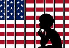 Política en materia de inmigración americana stock de ilustración