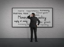 Política monetaria imagen de archivo libre de regalías