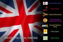 Política - partidos políticos británicos stock de ilustración