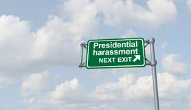 Política presidencial del acoso ilustración del vector