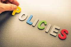 políticas foto de archivo libre de regalías