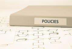 Políticas de negócio e procedimentos, tom do sepia foto de stock royalty free