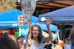 Político Amanda Fritz de Oregon no evento foto de stock