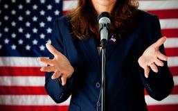 Político: Dando um discurso imagens de stock royalty free