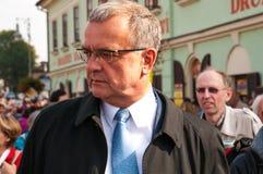 Político de Miroslav Kalousek, peregrinação nacional, ¡ Boleslav de StarÃ, 28 9 2017, Foto de Stock