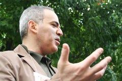 Político el campeón Garry Kasparov del ajedrez del mundo a protestar en apoyo de Khodorkovsky Imagen de archivo libre de regalías