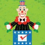 Político en la caja Foto de archivo libre de regalías