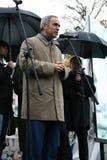 Político Garry Kasparov en una memoria de la reunión de imagen de archivo