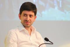 Político italiano del speranza de Roberto Imágenes de archivo libres de regalías